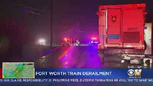 Train Carrying Ethanol Cars Derails, Catches Fire In South Fort Worth [Video]