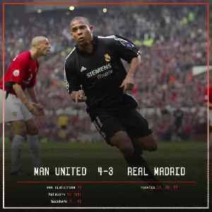 On This Day, 2003: Ronaldo knocked Manchester United out of the Champions League with a stunning hat-trick and was applauded off [Video]