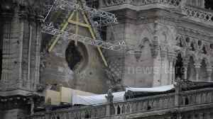 Notre-Dame covered in tarpaulin to protect it from expected rain [Video]