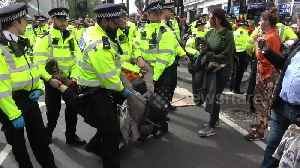 Police arrest Extinction Rebellion activists at Marble Arch in London [Video]