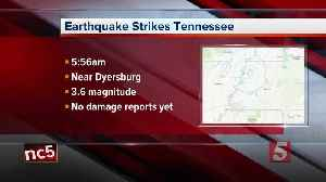 3.6 magnitude earthquake strikes near Dyersburg [Video]