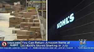 News video: Amazon Customers Will Soon Be Able To Return Items At Kohl's Stores