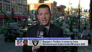 Ian Rapoport breaks down Marshawn Lynch's retirement plans, new draft strategy for Oakland Raiders [Video]