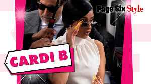 Cardi B wore an all-white look worth over $19,000 to court [Video]