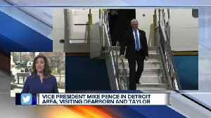 Vice President Mike Pence in Detroit area, visiting Dearborn and Taylor [Video]