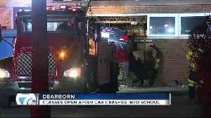 Classes open after car crashes into school in Dearborn [Video]