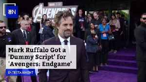 News video: Why Did 'Avengers: Endgame' Director Give Mark Ruffalo A Dummy Script