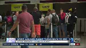 Spirit Airline flight turns back to BWI after reported odor on-board [Video]