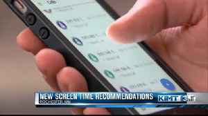 New guidelines on screen time for kids [Video]