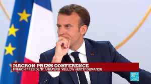 Macron press conference: 'The question about compulsory voting... I would not take on board that option' [Video]
