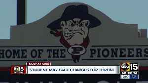 Valley student may face charged for threat [Video]