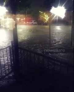 Street transformed into raging torrent during North Texas floods [Video]
