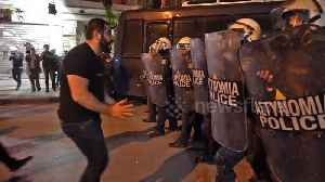 Greek Armenians' protest outside Turkish Consulate met with tear gas and stun grenades [Video]
