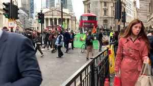 Extinction Rebellion protesters block traffic outside Bank of England in London [Video]