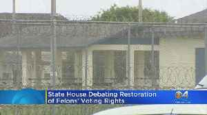 Bill Allowing Voting Rights To Ex-Cons Passes Florida House [Video]