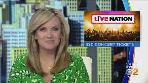 Live Nation Promotion Offers $20 Concert Tickets [Video]