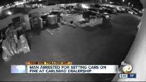 Man arrested for setting cars on fire at Carlsbad dealership [Video]