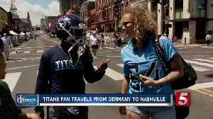 Titans fan travels from Germany to Nashville for NFL Draft [Video]