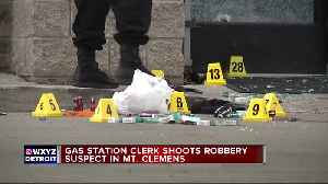 Suspect shot in attempted gas station robbery [Video]