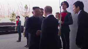 News video: Kim Jong Un meets Vladimir Putin for first time at summit
