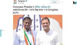 Denied ticket by BJP prominent Dalit leader Udit Raj joins Congress [Video]