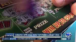 Some Colorado Lottery scratch-offs stay on shelves weeks after top prizes already claimed [Video]