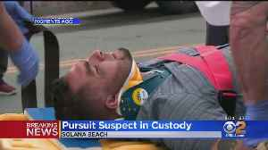 Suspect In Custody After 2 CHP Officers Struck During Car Chase [Video]