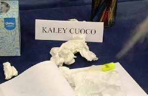Kaley Cuoco breaks down at table read [Video]