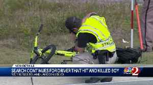 Search continues for driver that hit, killed boy [Video]