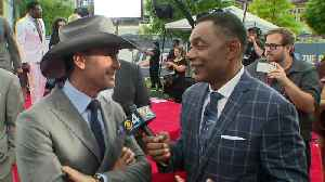 Country Music Superstar Tim McGraw Chats With CBS4's Jim Berry Outside The NFL Draft [Video]