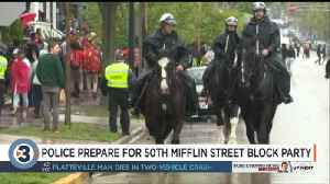 Police prepare for 50th Mifflin Street Block Party [Video]