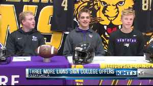 Clear Lake football players sign to play college football [Video]