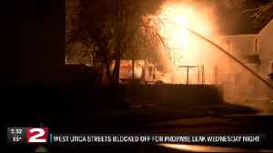 West Utica streets blocked off for propane leak [Video]