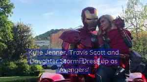 Kylie Jenner, Travis Scott and Daughter Stormi Dress up as 'Avengers' [Video]
