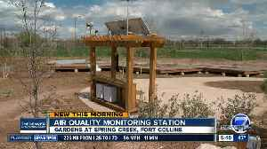 Bench in Ft Collins is actually an Air Quality Monitoring Station [Video]