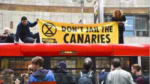 Climate-Change Protesters Block Road Near Bank Of England [Video]