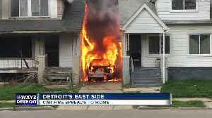 Off-duty firefighter saves family from burning home after car catches fire in driveway [Video]