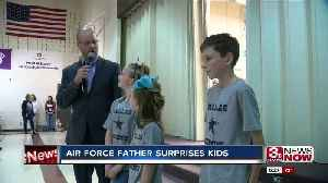 Air Force father surprises kids [Video]