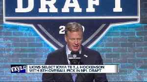 Lions select T.J. Hockenson in NFL Draft [Video]