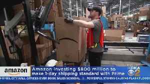 News video: Amazon To Offer Free 1-Day Shipping For Prime Customers