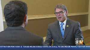 Energy Secretary Rick Perry In Dallas For Earth X [Video]