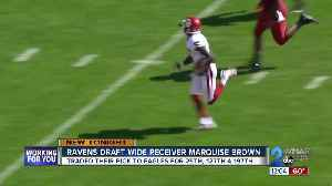 Ravens pick Oklahoma Wide Receiver Marquise 'Hollywood' Brown in 2019 Draft [Video]