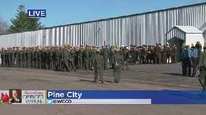 Mourners Line Up For Officer Eugene Wynn's Funeral [Video]