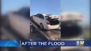 News video: VIDEO: Water Pouring From Car Flooded At Love Field Airport
