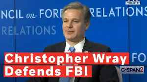 Christopher Wray Defends FBI Against Trump's 'Dirty Cops' Claim [Video]