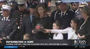 Funeral For FDNY Firefighter, Marine Staff Sgt. Christopher Slutman, Part 2 [Video]