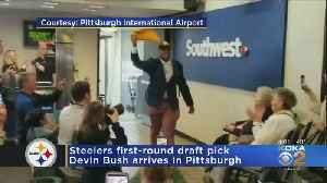 Steelers First-Round Draft Pick Devin Bush Arrives In Pittsburgh [Video]