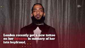 Late Nipsey Hussle's Girlfriend Gets A Tattoo In His Memory [Video]