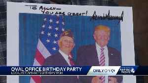 95-year-old World War II veteran gets his birthday wish: An Oval Office meeting with President Trump [Video]