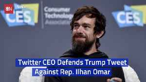 Twitter's CEO Jack Dorsey Stands Behind Trump Tweet [Video]